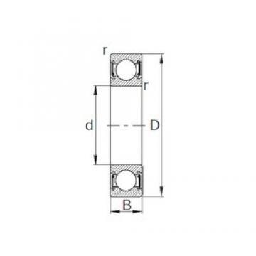 40 mm x 90 mm x 23 mm  KBC 6308UU deep groove ball bearings