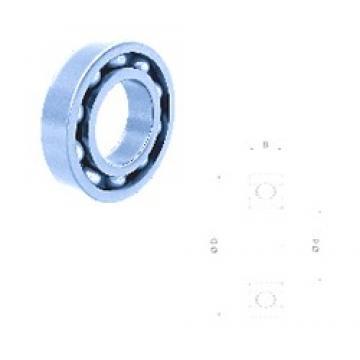 60 mm x 110 mm x 22 mm  Fersa 6212 deep groove ball bearings