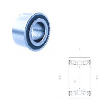 42 mm x 80 mm x 37 mm  Fersa F16107 angular contact ball bearings