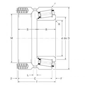 69,85 mm x 112,712 mm x 33 mm  Gamet 124069X/124112XP tapered roller bearings