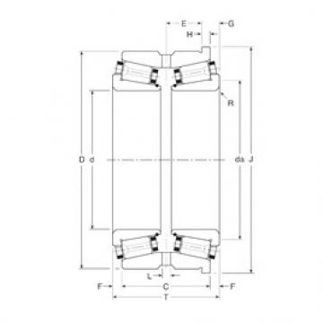 Gamet 123075/123123XH tapered roller bearings