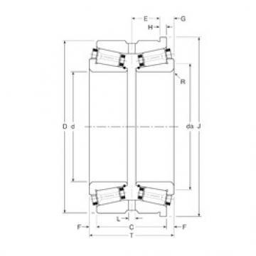 Gamet 320280X/320406XH tapered roller bearings