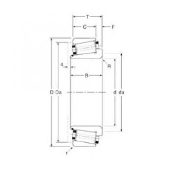 82,55 mm x 136,525 mm x 34 mm  Gamet 126082X/126136X tapered roller bearings
