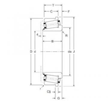 33,338 mm x 68 mm x 23,5 mm  Gamet 80033X/80068C tapered roller bearings