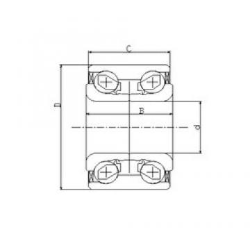 28 mm x 58 mm x 42 mm  ILJIN IJ111006 angular contact ball bearings