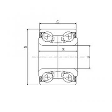 42 mm x 78 mm x 40 mm  ILJIN IJ111010 angular contact ball bearings