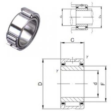 8 mm x 19 mm x 11 mm  JNS NA 498 needle roller bearings