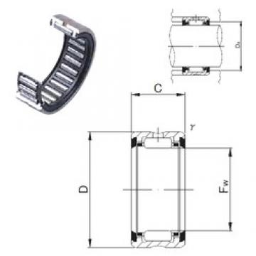 JNS RNA 6901UU needle roller bearings