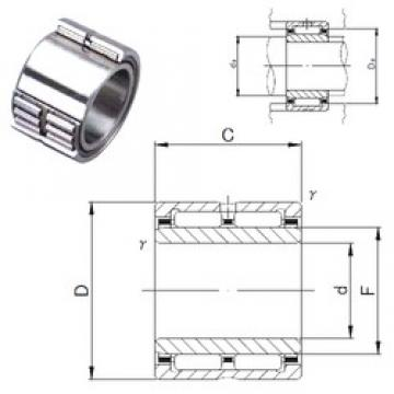 40 mm x 62 mm x 40 mm  JNS NA 6908 needle roller bearings