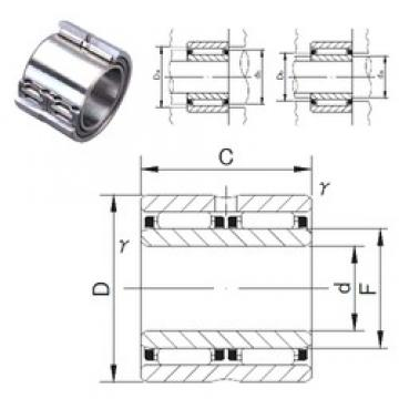 40 mm x 62 mm x 40 mm  JNS NAFW 406240 needle roller bearings