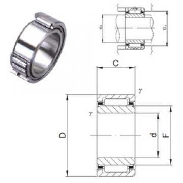 7 mm x 17 mm x 16 mm  JNS NKI 7/16M needle roller bearings