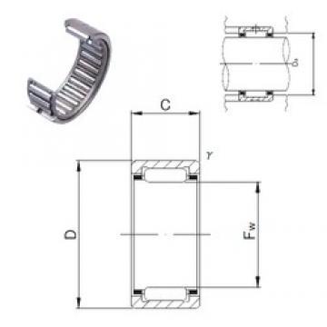 JNS NK8/12 needle roller bearings
