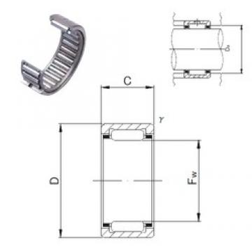 JNS NK8/16 needle roller bearings