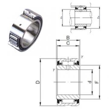40 mm x 62 mm x 23 mm  JNS NA 4908UU needle roller bearings