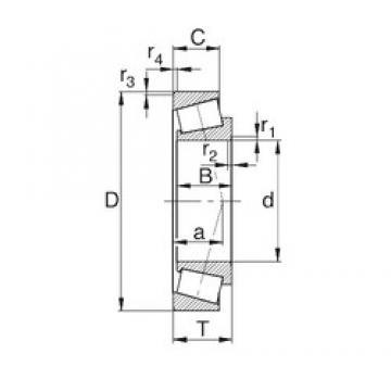 40 mm x 68 mm x 19 mm  KBC 32008XJh tapered roller bearings