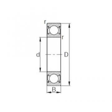 55 mm x 100 mm x 21 mm  KBC 6211ZZ deep groove ball bearings