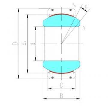 340 mm x 460 mm x 160 mm  LS GEC340XT-2RS plain bearings