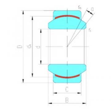 12 mm x 22 mm x 10 mm  LS GE12C plain bearings