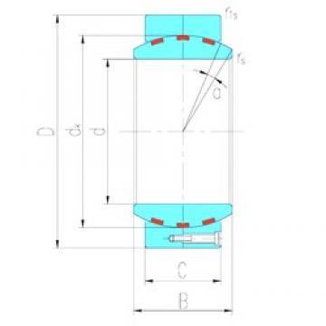 440 mm x 630 mm x 315 mm  LS GEH440HF/Q plain bearings