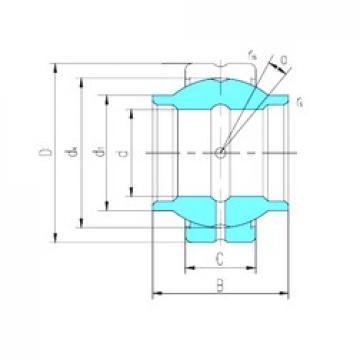 25,4 mm x 41,275 mm x 38,1 mm  LS GEWZ25ES-2RS plain bearings