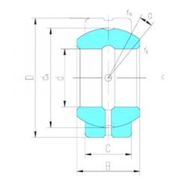 34,925 mm x 55,563 mm x 30,15 mm  LS GEZ34ES plain bearings