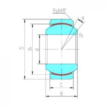 7,94 mm x 19,05 mm x 9,53 mm  LS GEFZ7C plain bearings