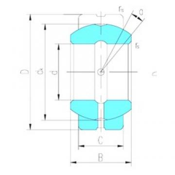 110 mm x 180 mm x 100 mm  LS GEG110ES plain bearings