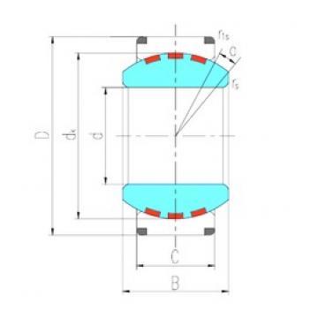 380 mm x 540 mm x 272 mm  LS GEH380XF/Q plain bearings