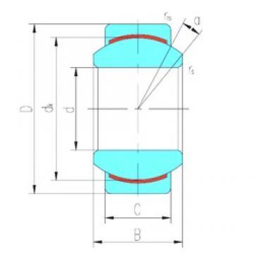 8 mm x 19 mm x 12 mm  LS GEBJ8C plain bearings