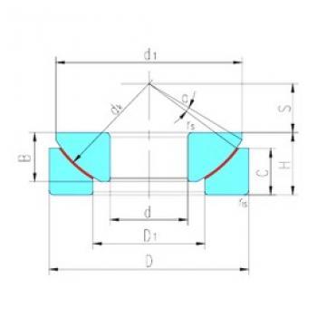 17 mm x 47 mm x 11,8 mm  LS GX17T plain bearings