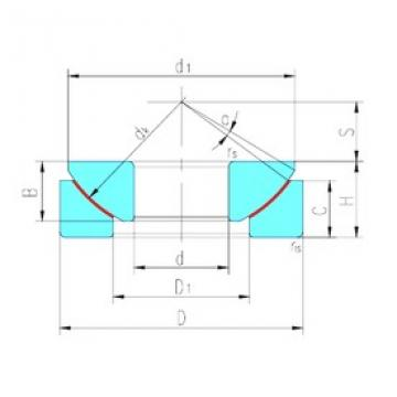 50 mm x 130 mm x 33 mm  LS GX50T plain bearings