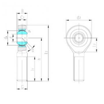 LS SAJK20C plain bearings