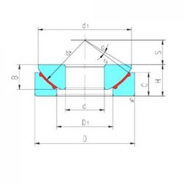 25 mm x 62 mm x 16,5 mm  LS GX25N plain bearings