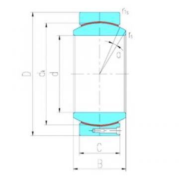 460 mm x 620 mm x 218 mm  LS GEC460HT plain bearings