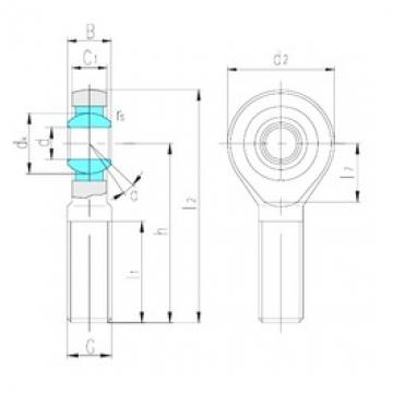 LS SA17ES plain bearings