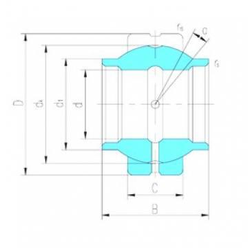 12 mm x 22 mm x 12 mm  LS GEEW12ES plain bearings