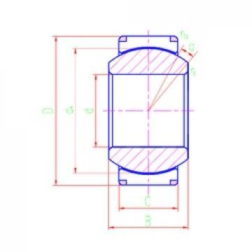 260 mm x 370 mm x 185 mm  LS GEH260XT-2RS plain bearings