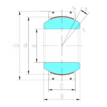 140 mm x 210 mm x 90 mm  LS GE140XT-2RS plain bearings