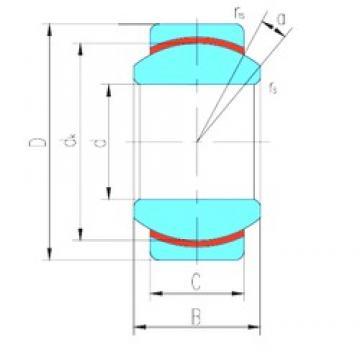 10 mm x 19 mm x 9 mm  LS GE10N plain bearings