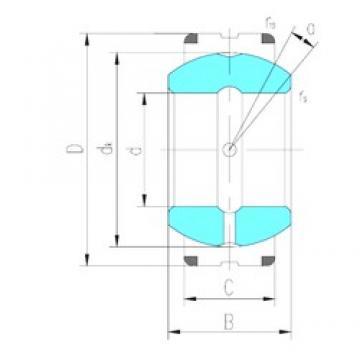 340 mm x 460 mm x 160 mm  LS GEC340XS plain bearings
