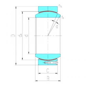 340 mm x 480 mm x 243 mm  LS GEH340HT plain bearings