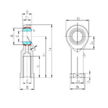 LS SIBP25S plain bearings