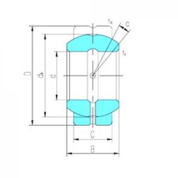 82,55 mm x 139,7 mm x 82,931 mm  LS GEGZ82ES plain bearings