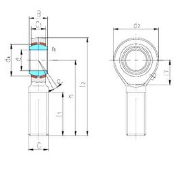 LS SAZP15S plain bearings