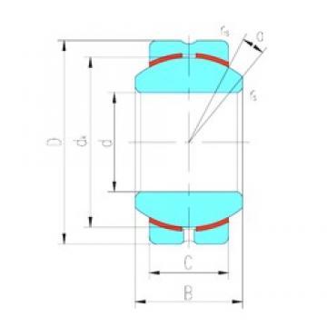 22 mm x 50 mm x 28 mm  LS GEBK22S plain bearings