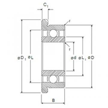9,525 mm x 22,225 mm x 5,558 mm  NMB RIF-1438 deep groove ball bearings