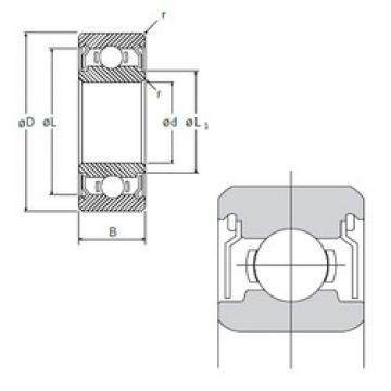 5 mm x 19 mm x 6 mm  NMB R-1950ZZ deep groove ball bearings