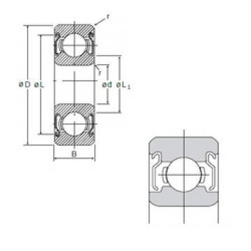 7 mm x 19 mm x 6 mm  NMB 607ZZ deep groove ball bearings