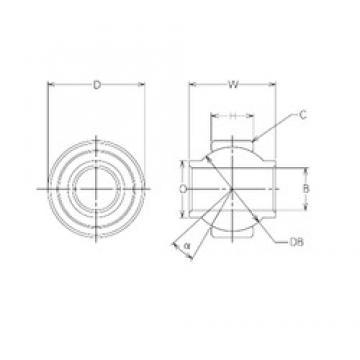 14 mm x 29 mm x 14 mm  NMB MBY14CR plain bearings