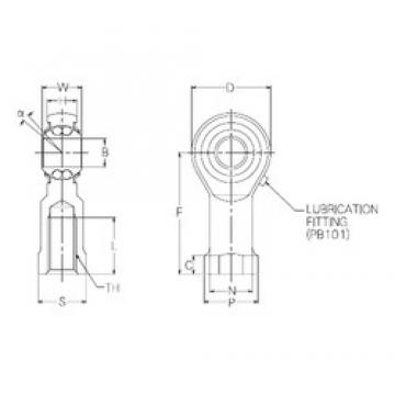 16 mm x 42 mm x 16 mm  NMB PBR16FN self aligning ball bearings